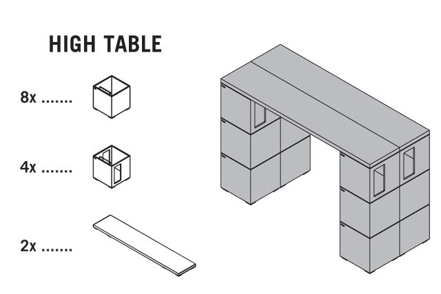 Pixel High Table